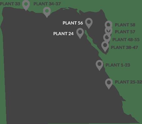 Mapa Proyectos Egipto